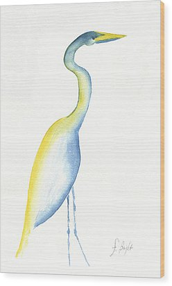 Egret's Glance Wood Print