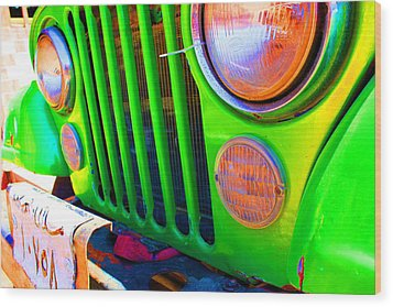 Egypt Car Wood Print by Laura Hiesinger