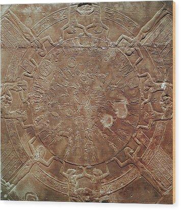 Egyptian Celestial Sphere Wood Print by Granger