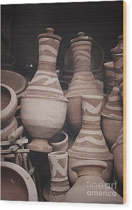 Wood Print featuring the photograph Egyptian Hand Made Traditional Bowl Of Cold Water by Mohamed Elkhamisy
