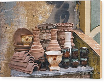 Egyptian Potter Wood Print by Mohamed Elkhamisy