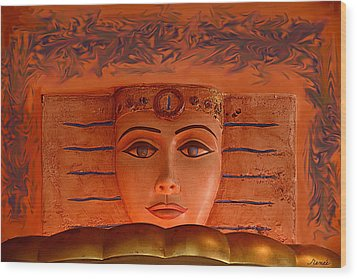 Egyptian Queen Nefertiti  Wood Print by Renee Anderson