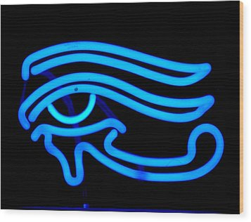 Egyptian Secret Eye Wood Print by Pacifico Palumbo