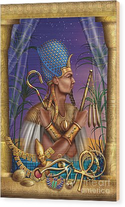 Egyptian Triptych Variant I Wood Print by Ciro Marchetti