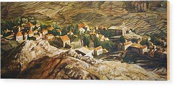 Ehden Lebanon Wood Print by Lyndsey Hatchwell