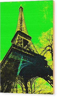 Eiffel 20130115v2 Wood Print by Wingsdomain Art and Photography