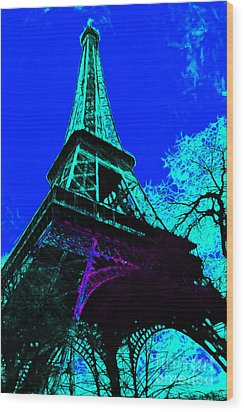 Eiffel 20130115v4 Wood Print by Wingsdomain Art and Photography