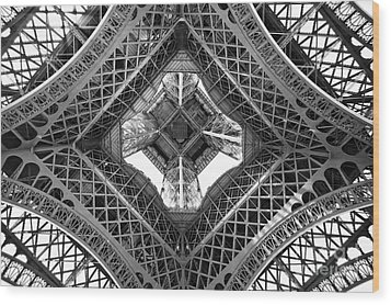 Eiffel Abstract Wood Print by Delphimages Photo Creations