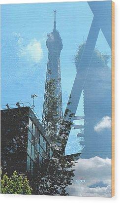 Eiffel Collage Wood Print
