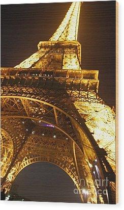Eiffel Knew How To Build Them Wood Print by Alexandra Jordankova