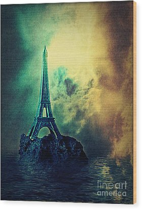 Eiffel Lighthouse Wood Print