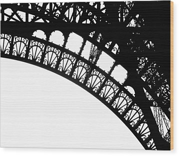 Eiffel Metal Crochet  Wood Print by Rita Haeussler