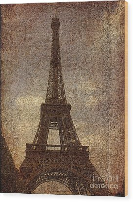 Eiffel Wood Print by Soumya Bouchachi