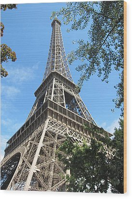 Wood Print featuring the photograph Eiffel Tower - 2 by Pema Hou
