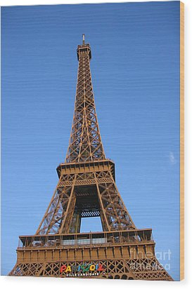 Eiffel Tower 2005 Ville Candidate Wood Print by HEVi FineArt