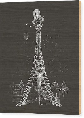 Eiffel Tower Wood Print by Aged Pixel
