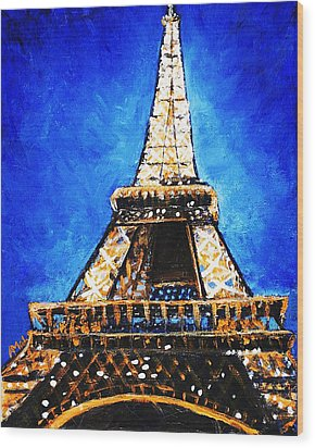 Eiffel Tower Wood Print by Anastasiya Malakhova