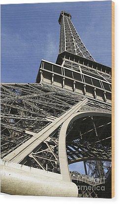 Eiffel Tower Wood Print by Belinda Greb