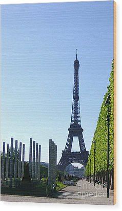 Wood Print featuring the photograph Eiffel Tower by Deborah Smolinske