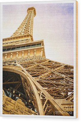 Eiffel Tower Wood Print by Edward Fielding