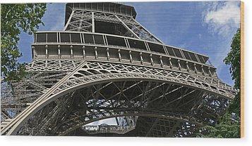 Eiffel Tower First Balcony Wood Print by Gary Lobdell