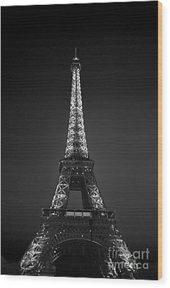 Eiffel Tower Infrared Wood Print