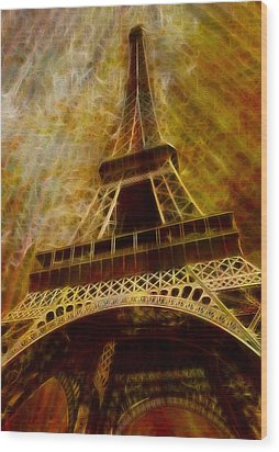 Eiffel Tower Wood Print by Jack Zulli