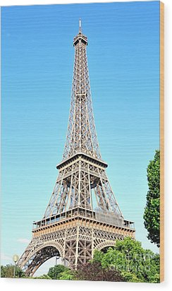 Wood Print featuring the photograph Eiffel Tower by Joe  Ng