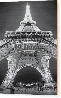 Eiffel Tower Wood Print by John Gusky