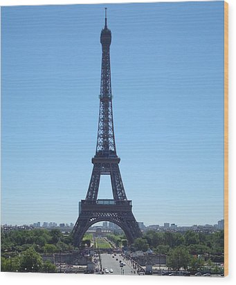 Wood Print featuring the photograph Eiffel Tower by Kay Gilley