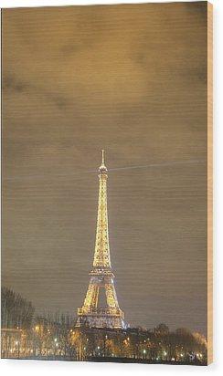 Eiffel Tower - Paris France - 011351 Wood Print by DC Photographer