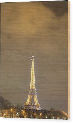 Eiffel Tower - Paris France - 011354 Wood Print by DC Photographer
