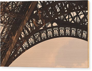Eiffel Tower Paris France Arc Wood Print by Patricia Awapara