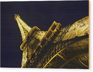 Eiffel Tower Paris France Side Wood Print by Patricia Awapara