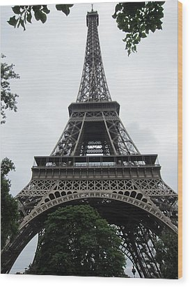 Wood Print featuring the photograph Eiffel Tower by Pema Hou