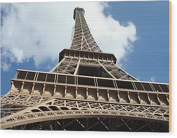 Wood Print featuring the photograph Eiffel Tower Perspective by Kay Gilley
