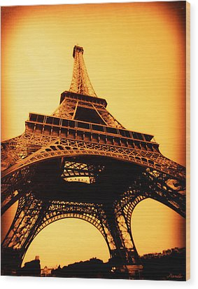 Wood Print featuring the photograph Eiffel Tower by Renee Anderson