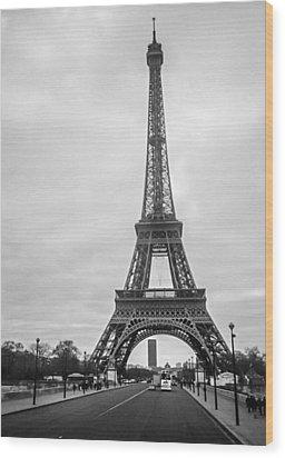 Eiffel Tower Wood Print by Steven  Taylor