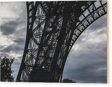Wood Print featuring the photograph Eiffel Tower Storm by Ross Henton
