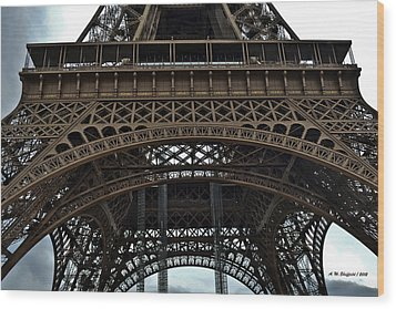 Wood Print featuring the photograph Eiffel Tower - The Forgotten Names by Allen Sheffield