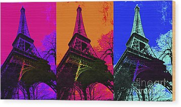 Eiffel Tower Three 20130116 Wood Print by Wingsdomain Art and Photography