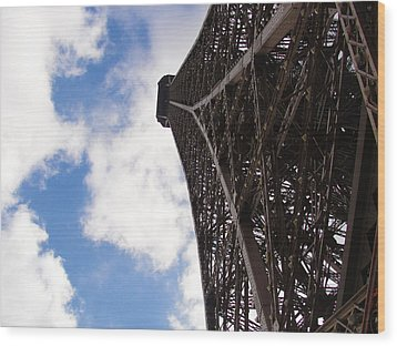 Wood Print featuring the photograph Eiffel Tower by Tiffany Erdman