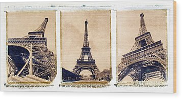 Eiffel Tower Wood Print by Tony Cordoza
