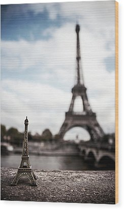 Eiffel Trinket Wood Print