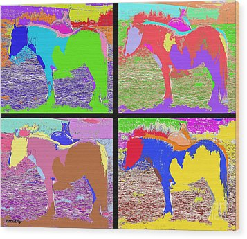 Eight Horses Wood Print by Patrick J Murphy