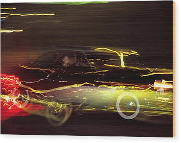 Eighty Eight Miles Per Hour Wood Print by Jason Politte