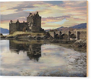 Eilean Donan Castle Scotland Wood Print by Jacqi Elmslie