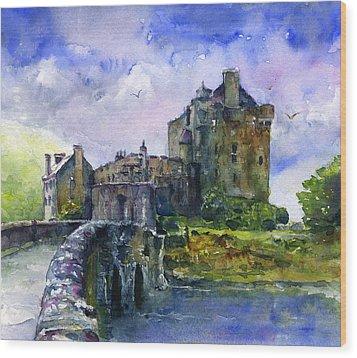 Eilean Donan Castle Scotland Wood Print by John D Benson