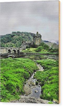 Eilean Donan Wood Print by Jacqi Elmslie