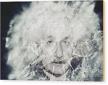 Einstein Dandy Wood Print